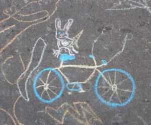 Bunny on a Bicycle