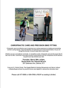 Bike Fit Seminar - Savile Road 3-26-15