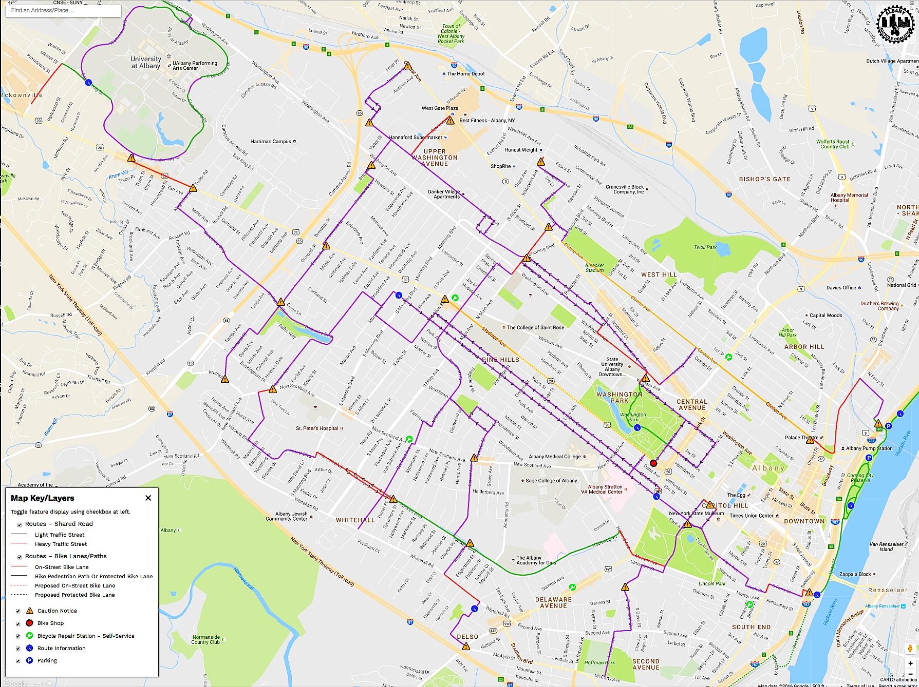 BikeAlbanyMap Albany Bicycle Coalition