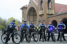 Albany_bicycle_police_escort